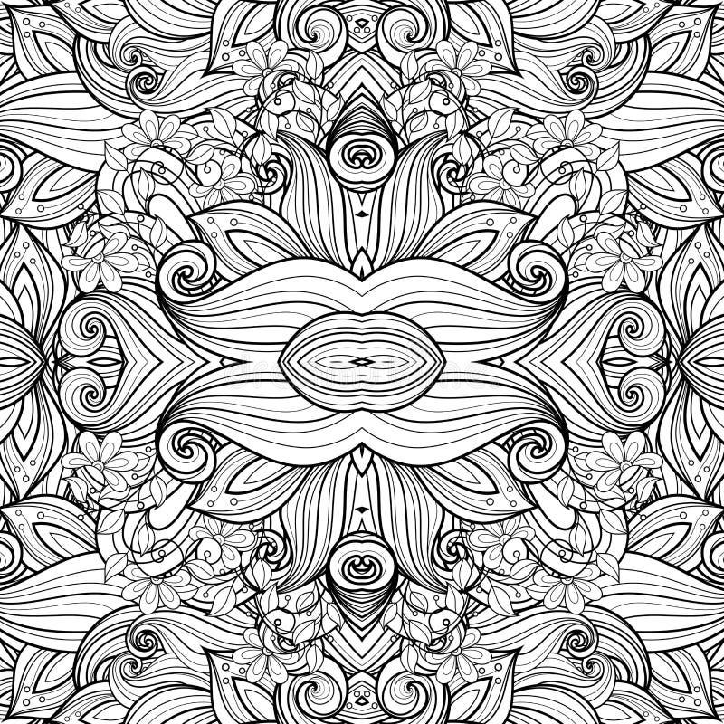 Naadloos Abstract Stammenpatroon vector illustratie