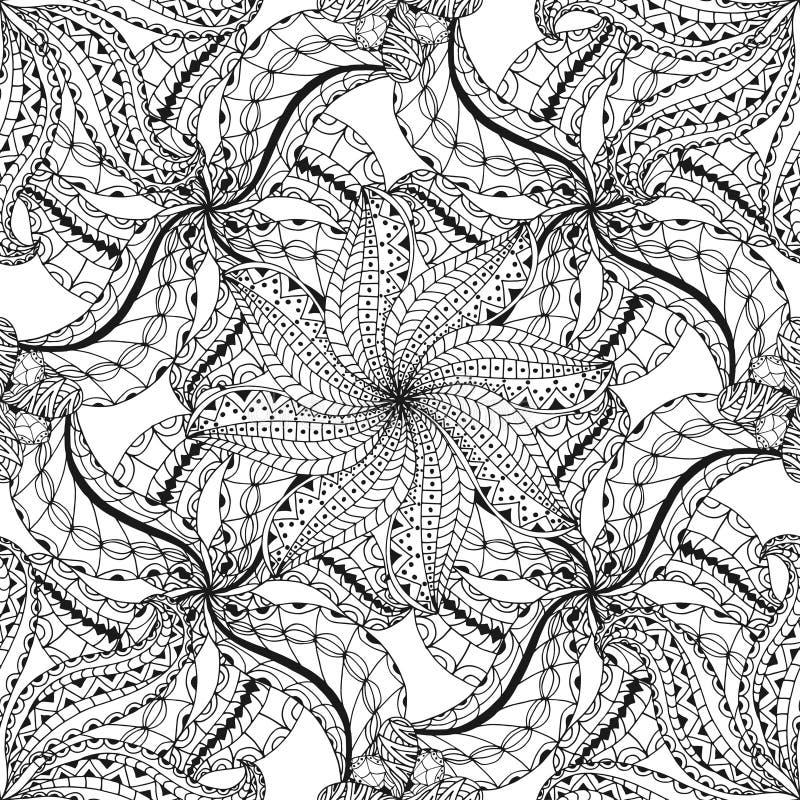 Naadloos Abstract Stammenpatroon royalty-vrije illustratie