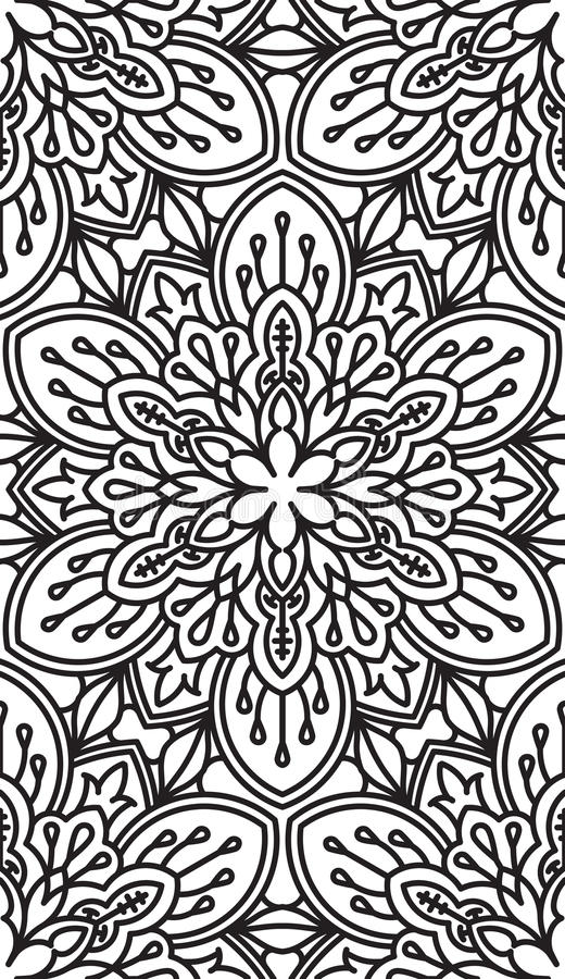 Naadloos Abstract Stammenpatroon Hand Getrokken Etnische Textuur Vec royalty-vrije illustratie