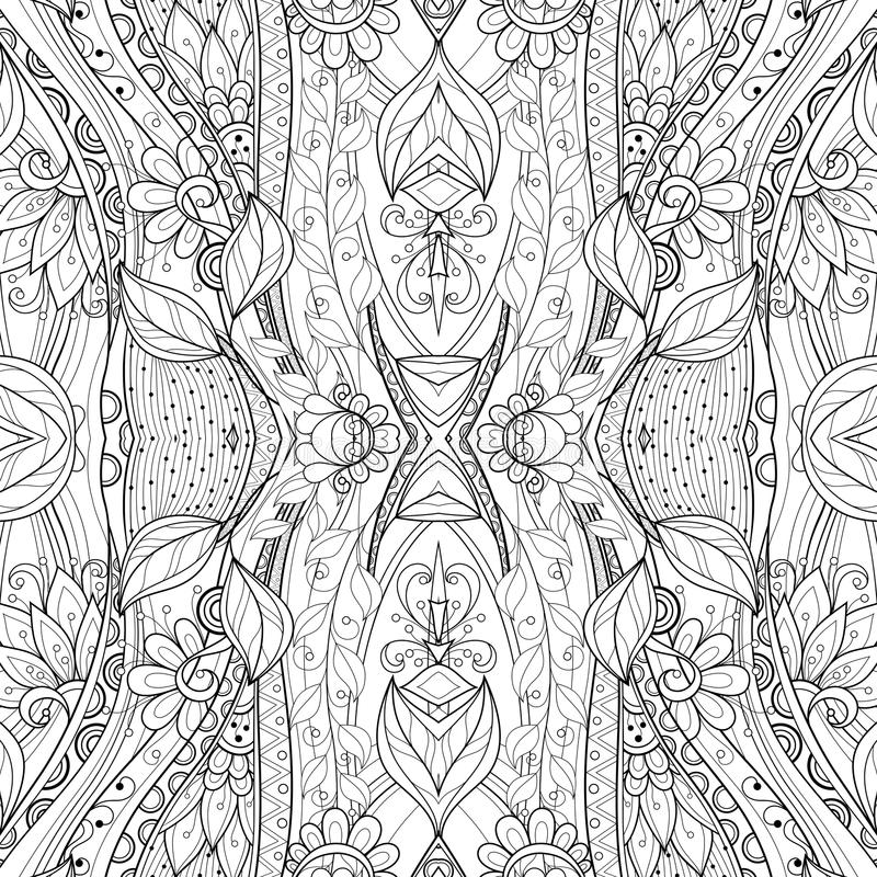 Naadloos Abstract Stammenpatroon (Vector) royalty-vrije illustratie
