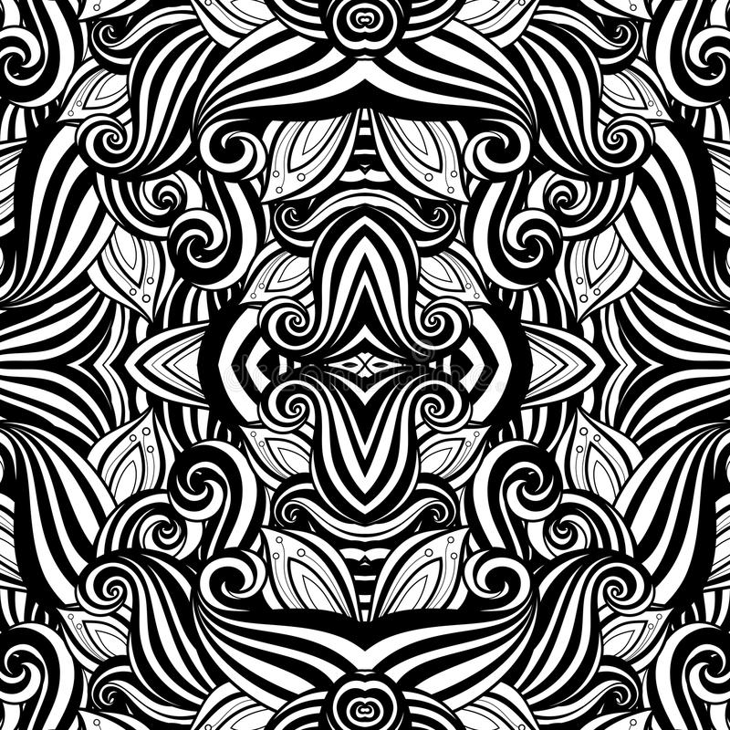 Naadloos Abstract Stammenpatroon (Vector) stock illustratie