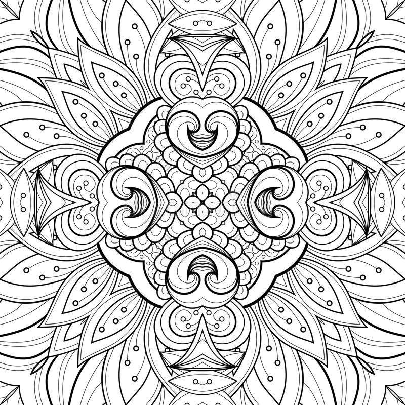 Naadloos Abstract Stammenpatroon (Vector) royalty-vrije illustratie