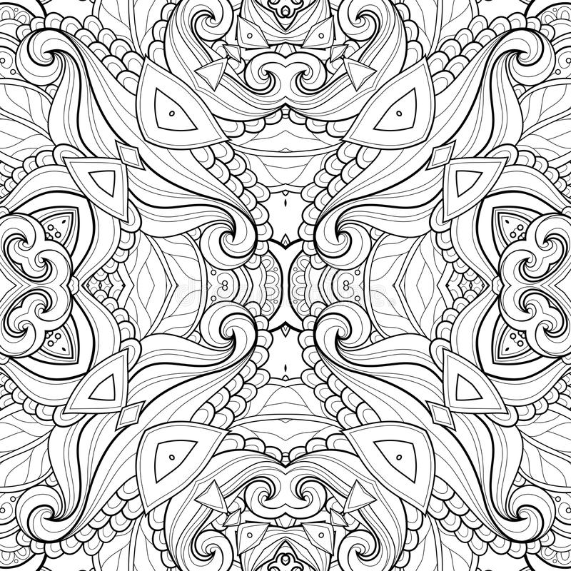 Naadloos Abstract Stammenpatroon (Vector) vector illustratie