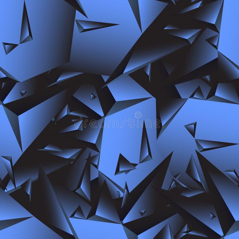 Naadloos abstract vectorpatroon Geometrische driehoeksachtergrond stock illustratie