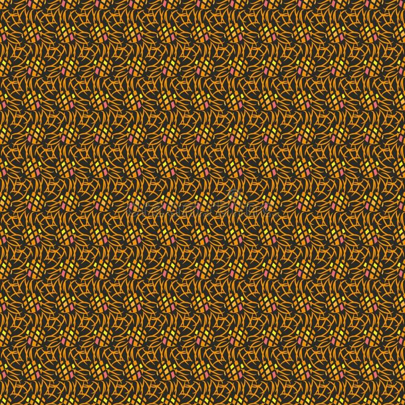 Naadloos abstract vectorpatroon met cirkels en lijnen royalty-vrije illustratie