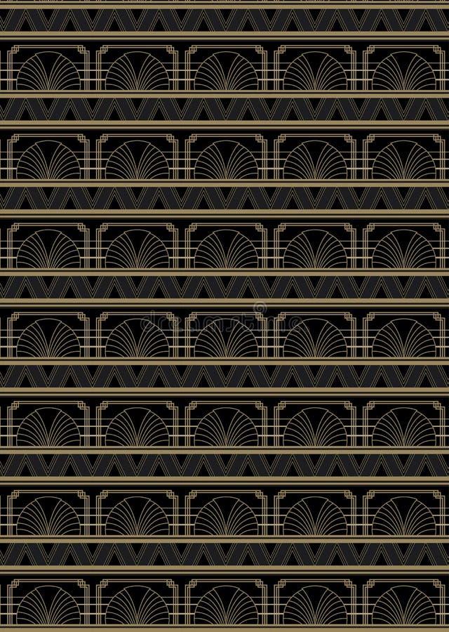 Naadloos Art Deco Style Pattern vector illustratie