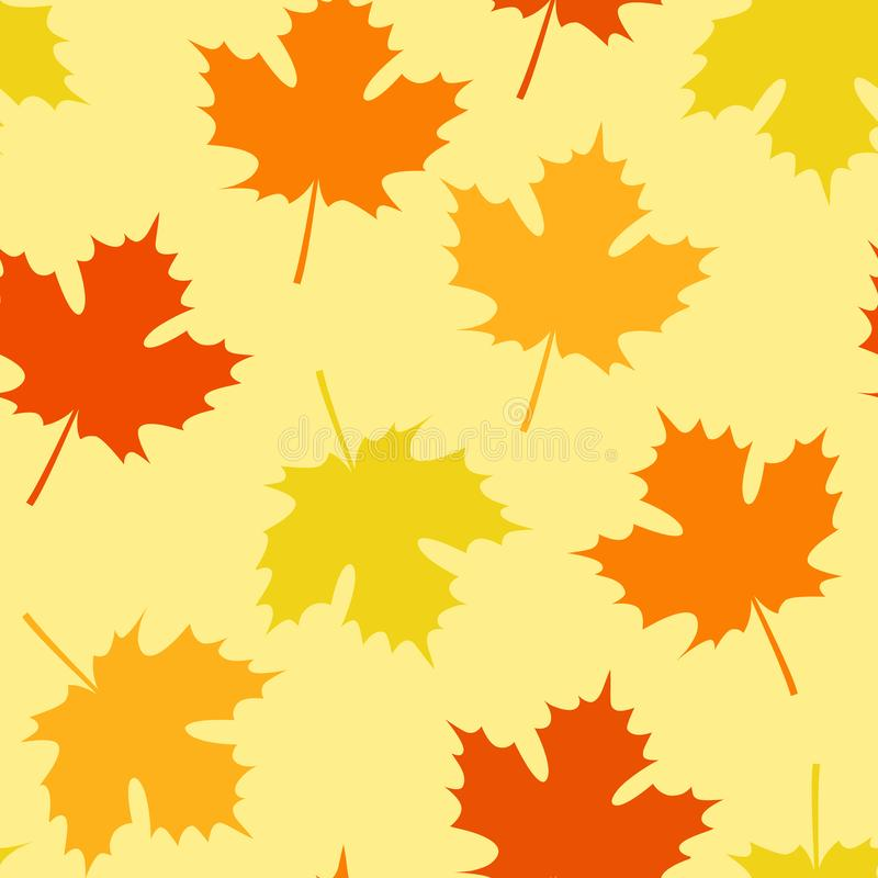 Naadloos Autumn Pattern met Bladerendaling stock illustratie