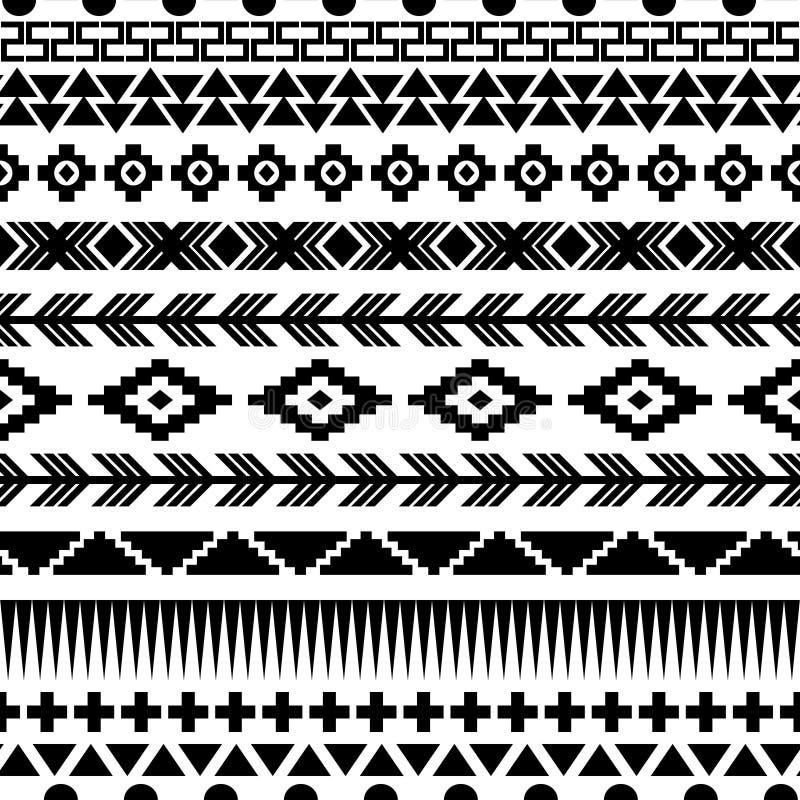 Naadloos Azteeks patroon vector illustratie