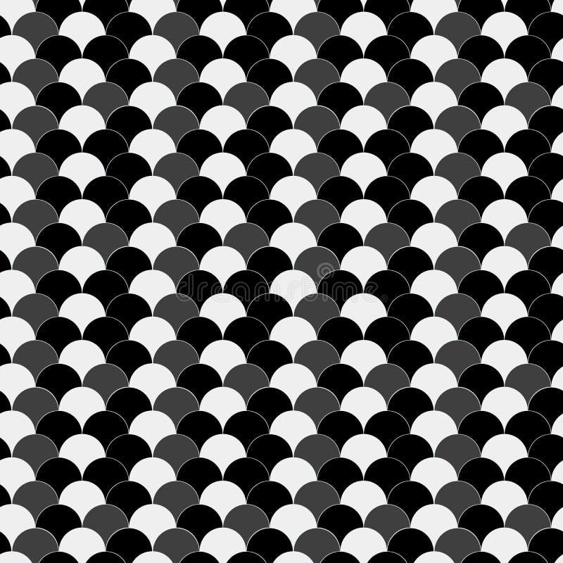 Naadloos azuurblauw zwart en grijs uitstekend golvenop kunstpatroon royalty-vrije illustratie