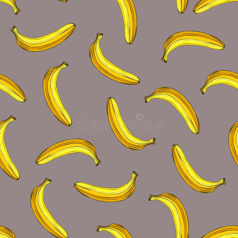 Naadloos banaanpatroon stock illustratie