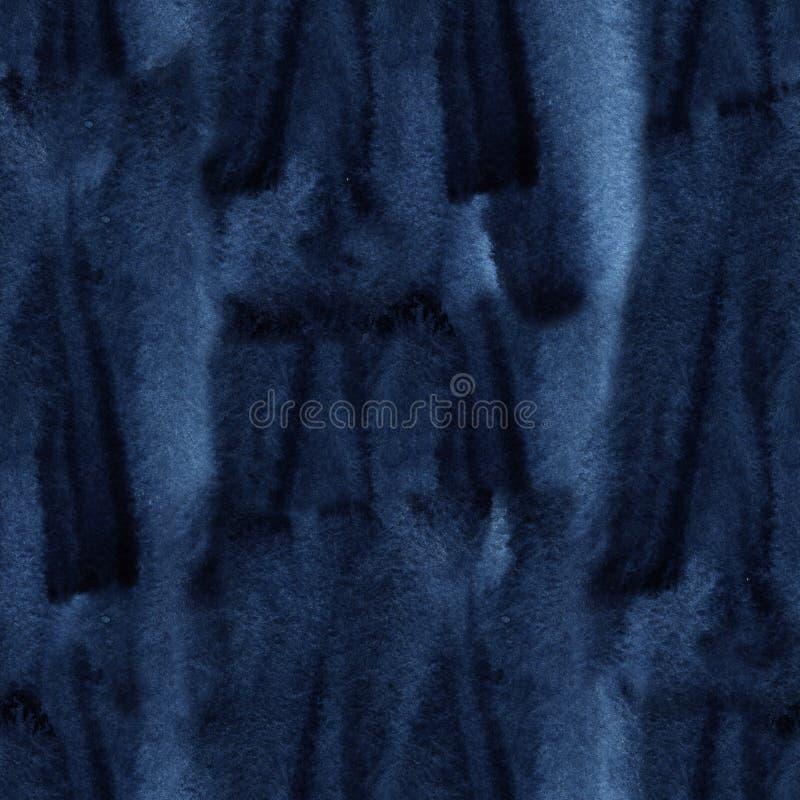 Naadloos band-kleurstof patroon van indigokleur Hand het schilderen stoffen - knoestige batik Shibori het verven royalty-vrije stock afbeelding