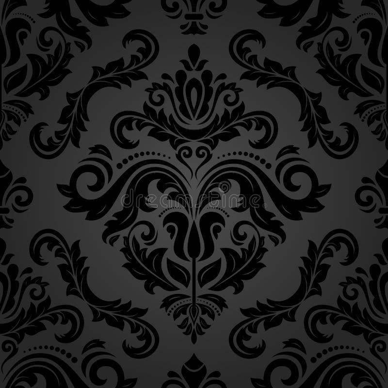 Naadloos behang in de stijl van barok vector illustratie