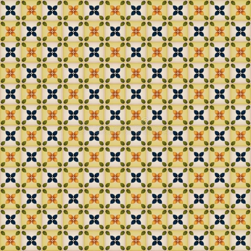 Naadloos Behang met Portugese Tegels royalty-vrije illustratie