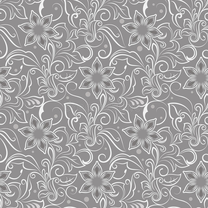 Naadloos beige bloempatroon vector illustratie