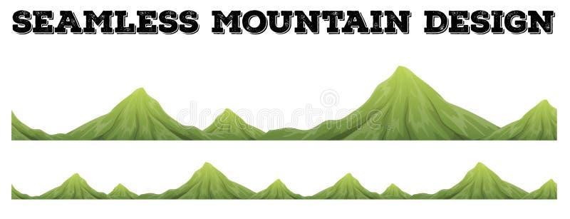 Naadloos bergketenontwerp vector illustratie