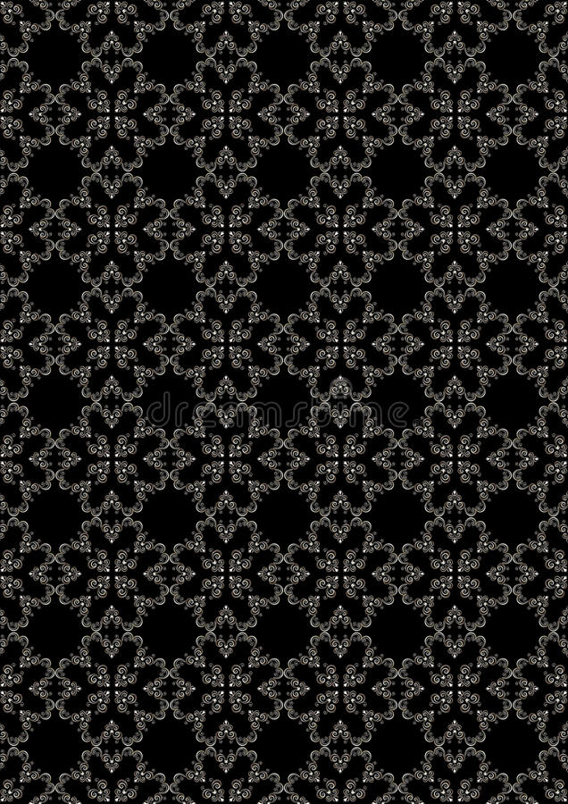 Naadloos bevallig zilveren bloemenpatroon stock illustratie