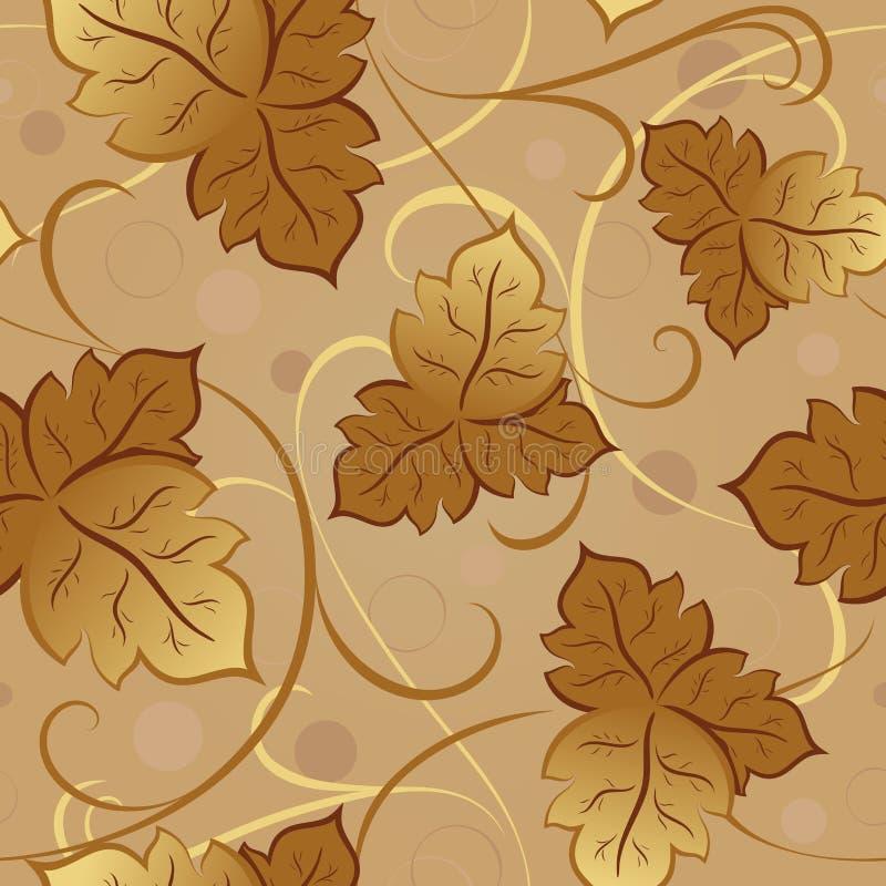 Naadloos bladerenpatroon. vector illustratie