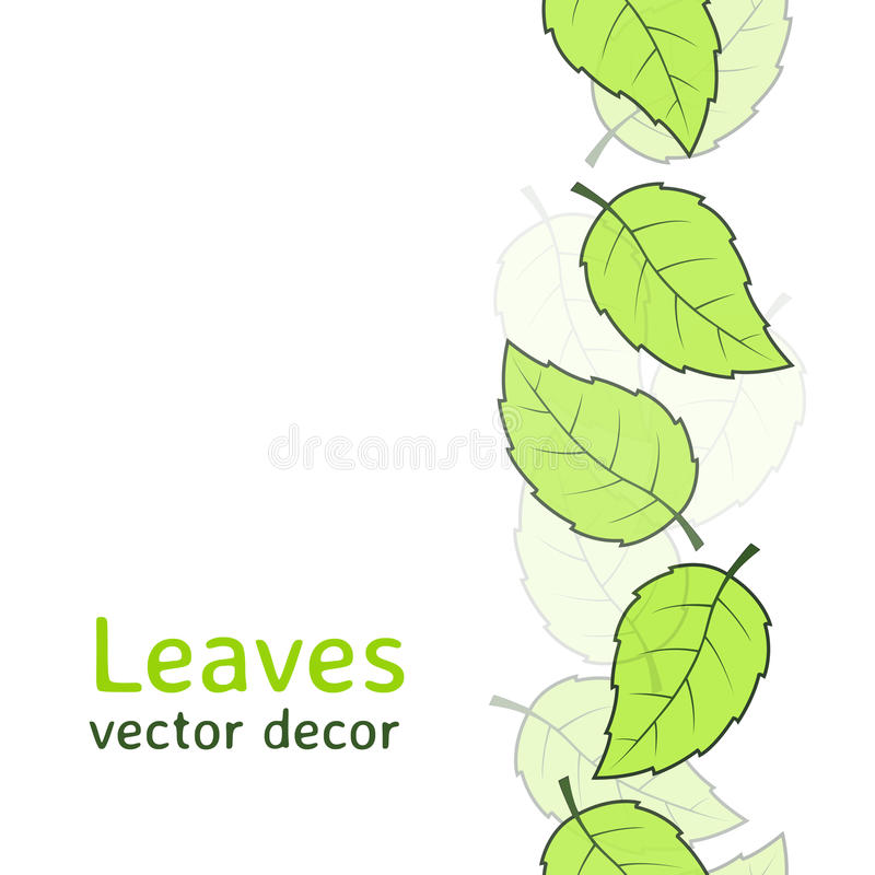 Naadloos bladerenpatroon vector illustratie