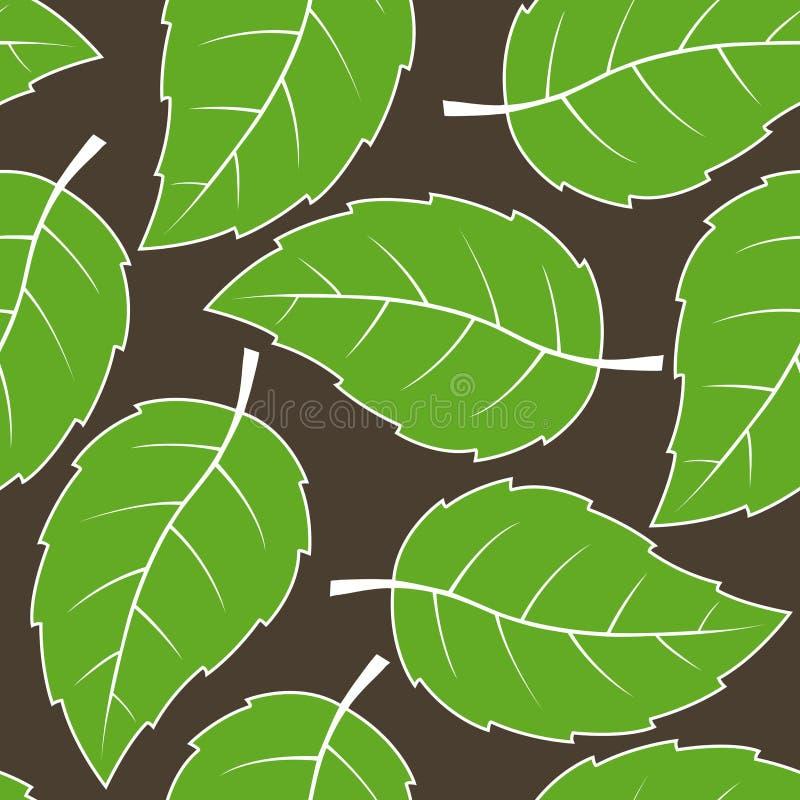 Naadloos bladerenpatroon royalty-vrije illustratie