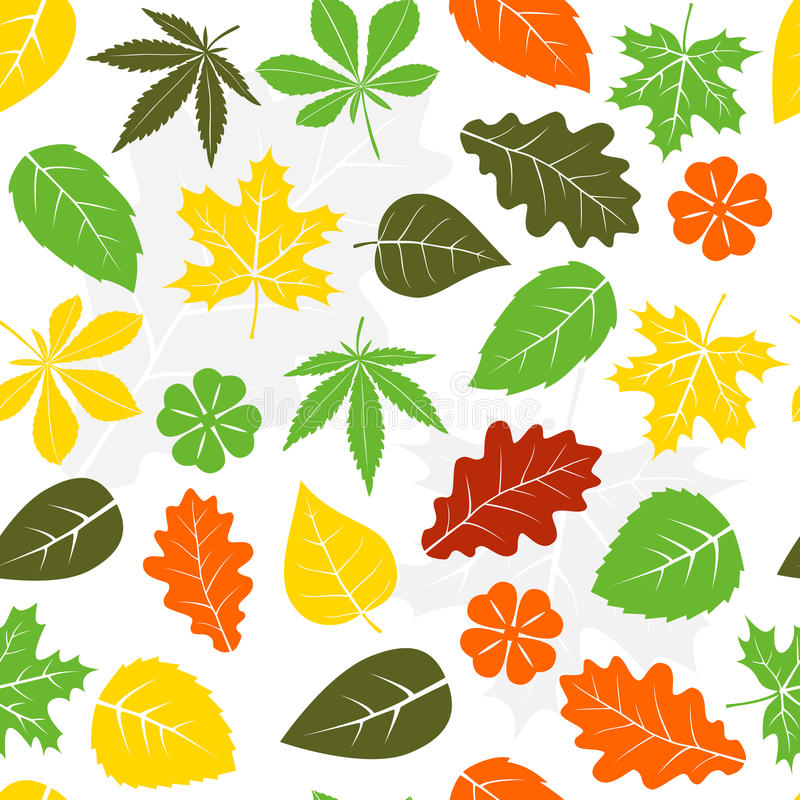 Naadloos bladerenpatroon stock illustratie