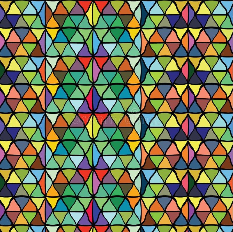 Naadloos blauw abstract driehoekenpatroon Retro achtergrond van Duitsland royalty-vrije illustratie