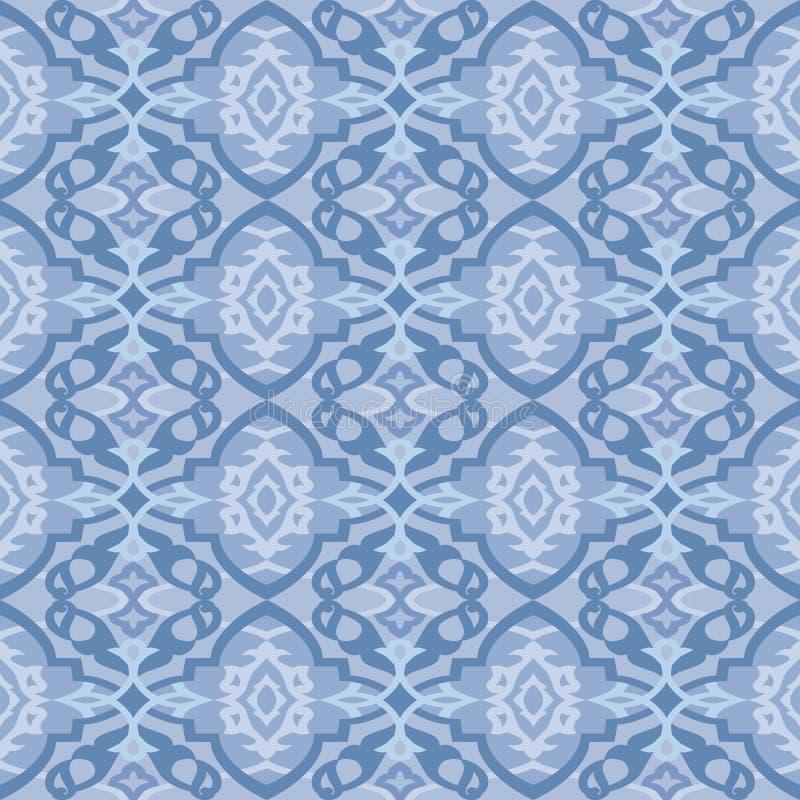 Naadloos blauw behangpatroon royalty-vrije illustratie