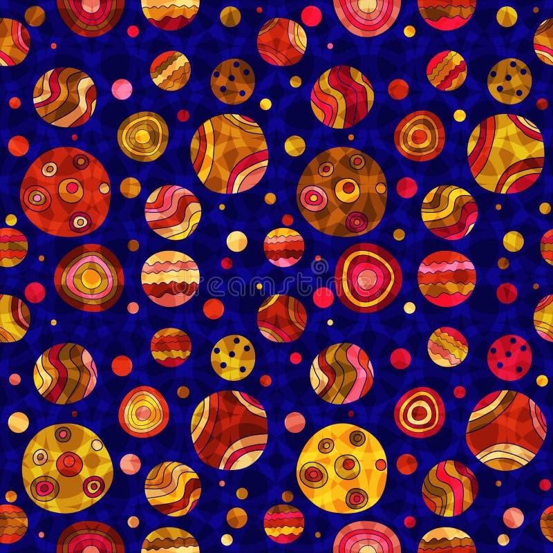 Naadloos blauw patroon met kleurrijke landhuisstippen vector illustratie