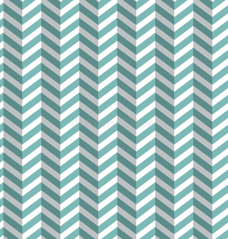 Naadloos Blauw - Witte Achtergrond stock illustratie
