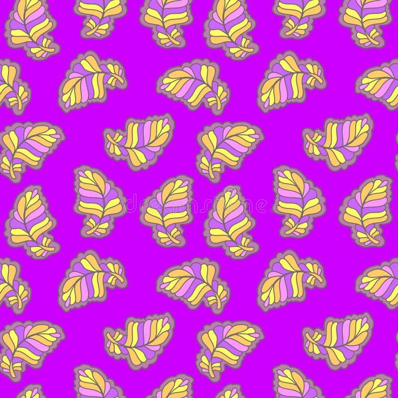 Naadloos bloemen abstract patroon stock afbeelding