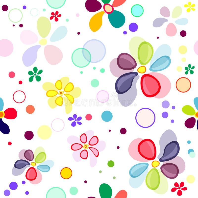 Naadloos bloemen levendig patroon royalty-vrije illustratie