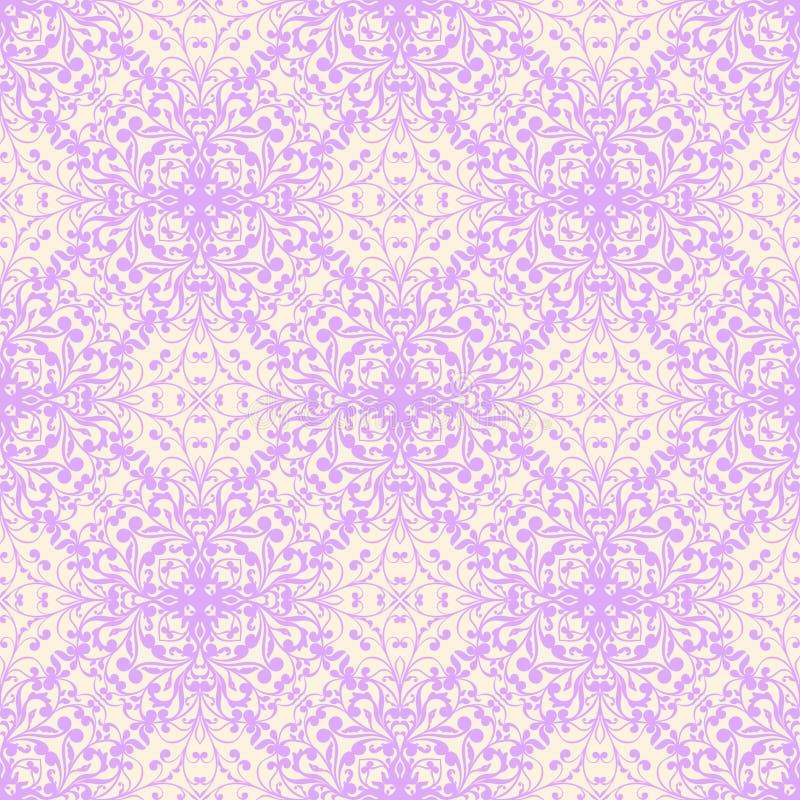 Naadloos bloemen violet patroon royalty-vrije illustratie