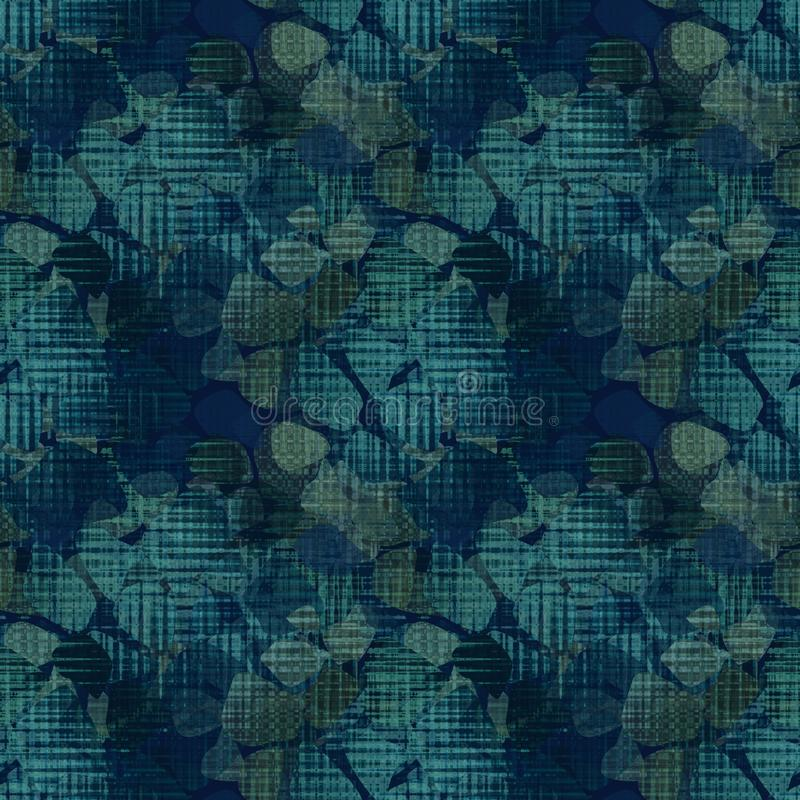 Naadloos bloemen vrouwelijk patroon stock illustratie