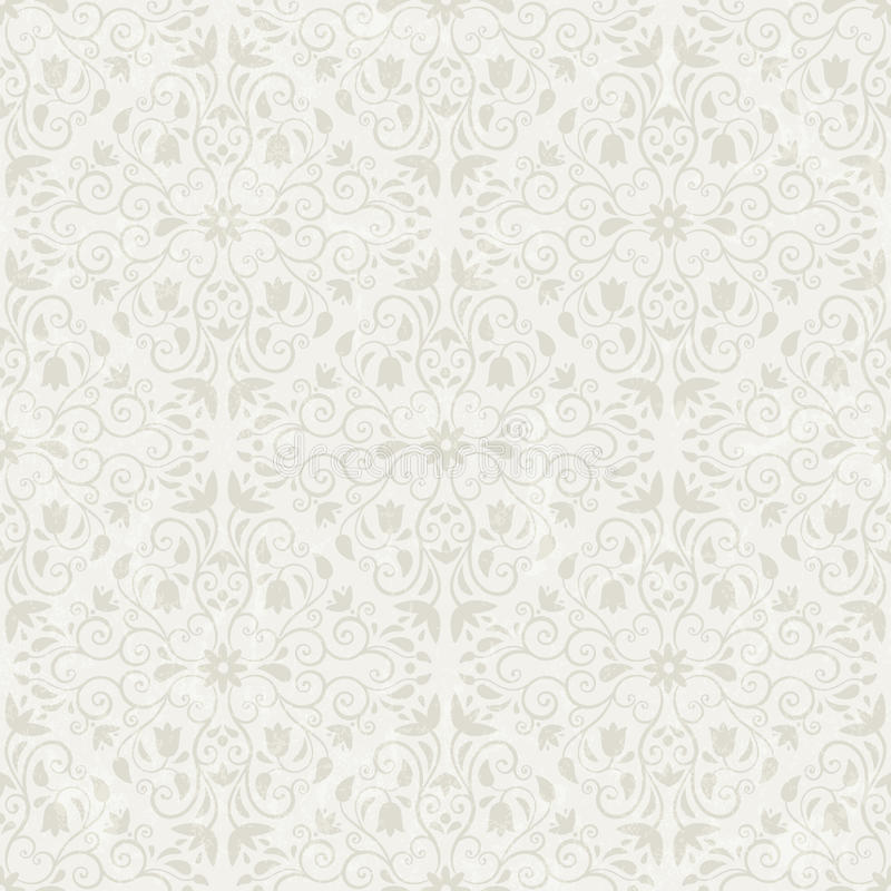 Naadloos bloemenbehang stock illustratie
