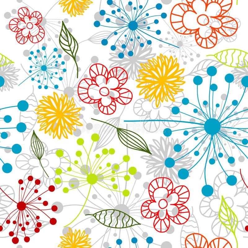 Naadloos bloemenpatroon,   stock illustratie