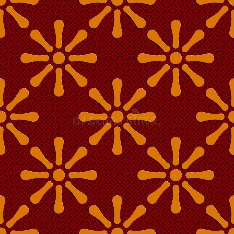 Naadloos bloemenpatroon vector illustratie