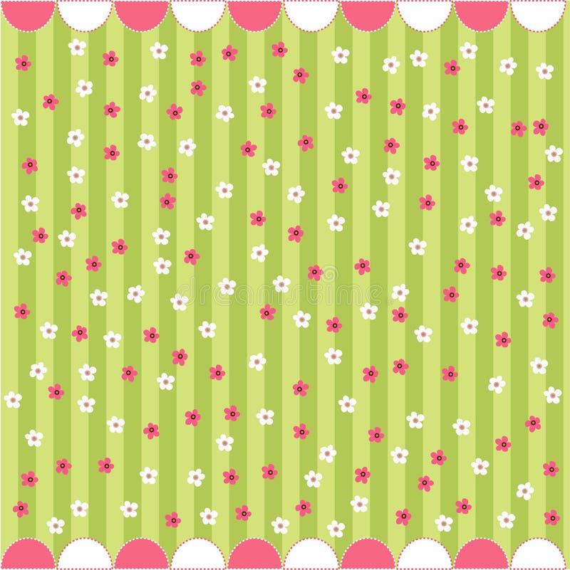 Naadloos bloemenpatroon, babykaart royalty-vrije illustratie