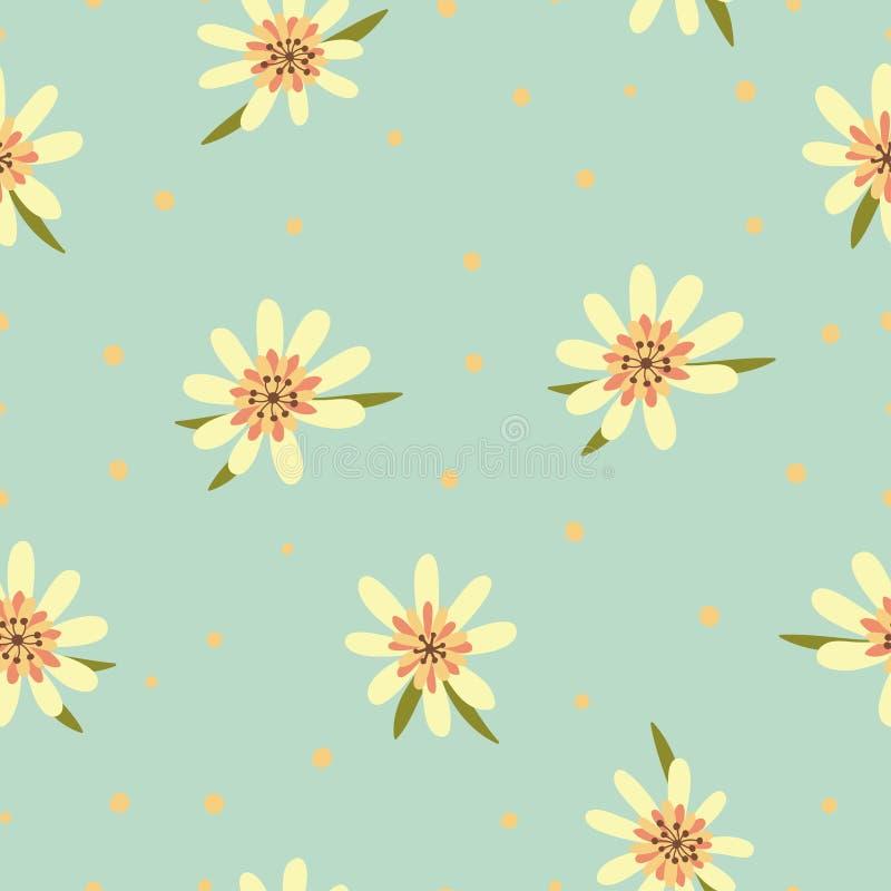 Download Naadloos Bloemenpatroon. Bloementextuur. Vector Illustratie - Illustratie bestaande uit multi, stof: 39100996