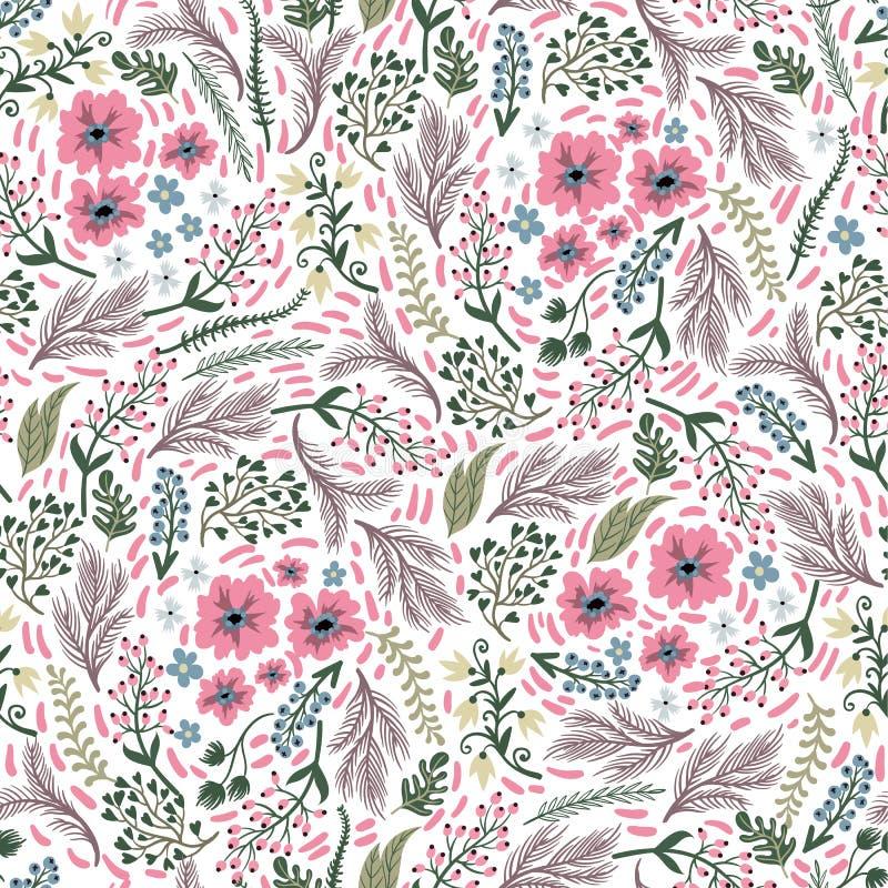 Naadloos bloemenpatroon met leuke kleine ditsy bloemen Vector illustratie vector illustratie