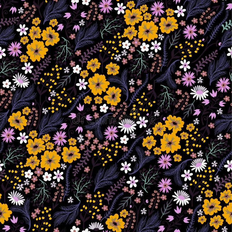 Naadloos bloemenpatroon met leuke kleine ditsy bloemen Vector illustratie stock illustratie
