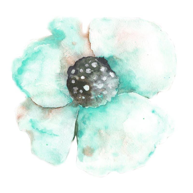 Naadloos bloemenpatroon met papavers Waterverftekening voor ontwerp van stof, achtergrond, behang, dekking, kaarten, malplaatjes, royalty-vrije illustratie