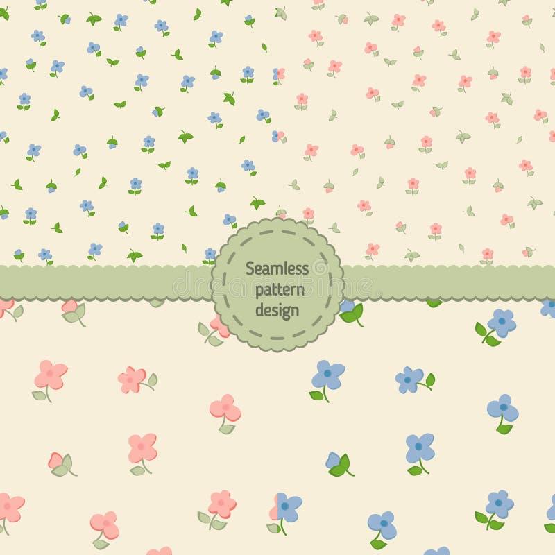 Naadloos BloemenPatroon reeks vector illustratie
