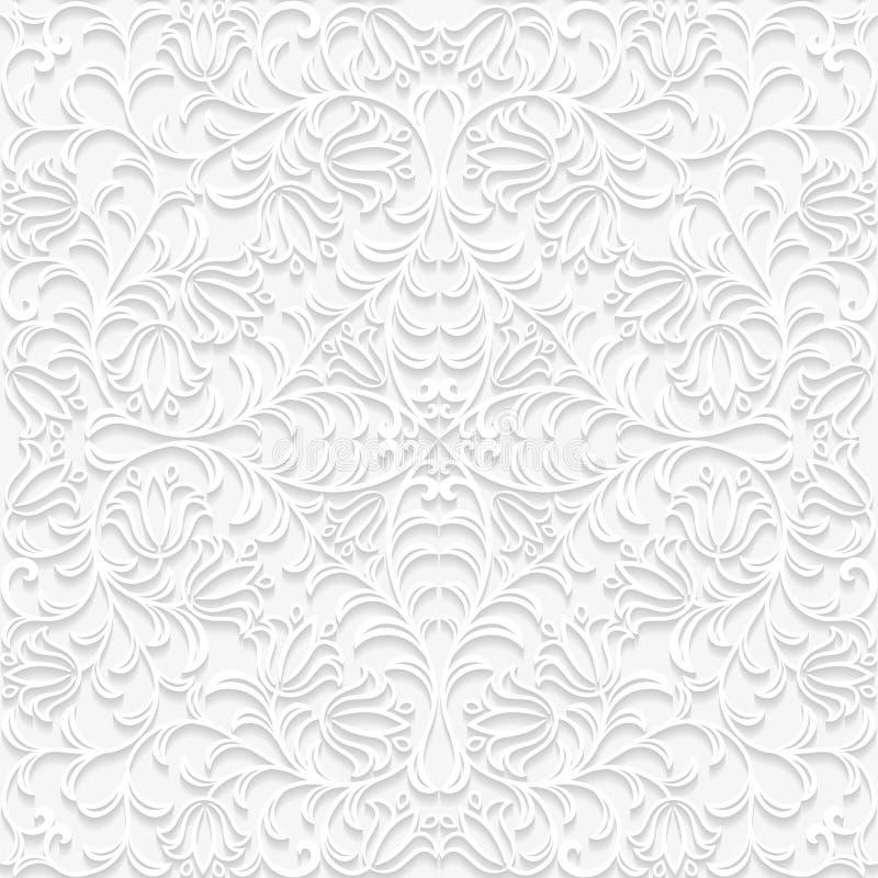 Download Naadloos Bloemenpatroon In In Traditionele Stijl Vector Illustratie - Illustratie bestaande uit textuur, wijnoogst: 54075354