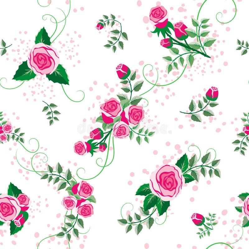 Naadloos bloemenpatroon in vector stock foto's