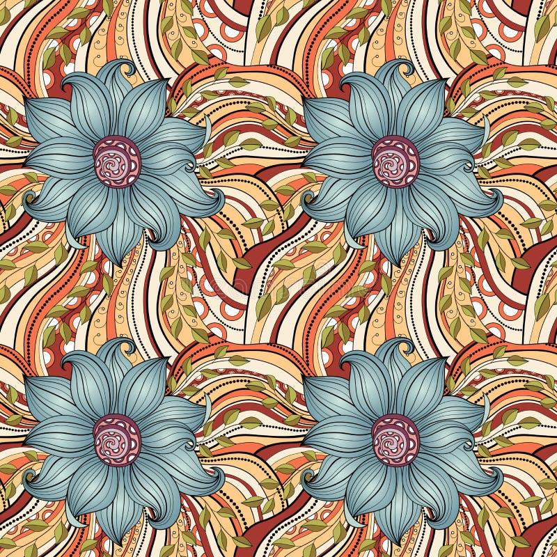 Naadloos bloemenpatroon (vector) vector illustratie