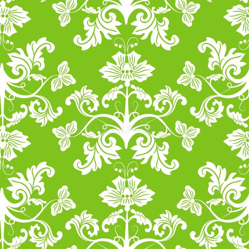 Naadloos bloemenpatroon, vector royalty-vrije illustratie