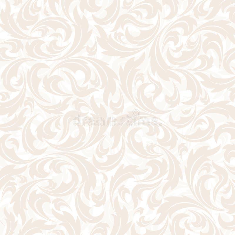 Naadloos Bloemenpatroonbehang in de stijl van royalty-vrije illustratie