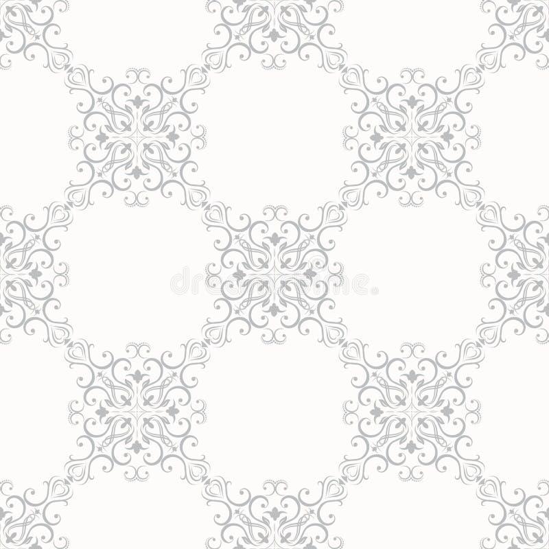 Naadloos Bloemenpatroonbehang in de stijl van vector illustratie