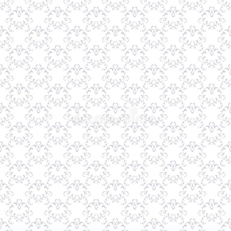 Naadloos Bloemenpatroonbehang in de stijl van Barok Moderne Illustratie royalty-vrije illustratie