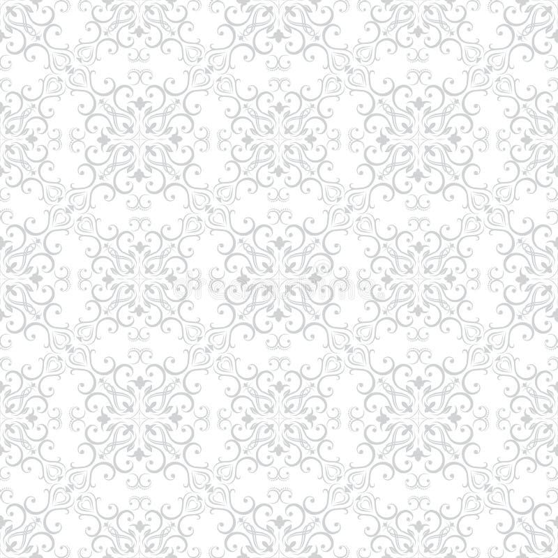 Naadloos Bloemenpatroonbehang in de stijl van Barok Moderne Illustratie stock illustratie