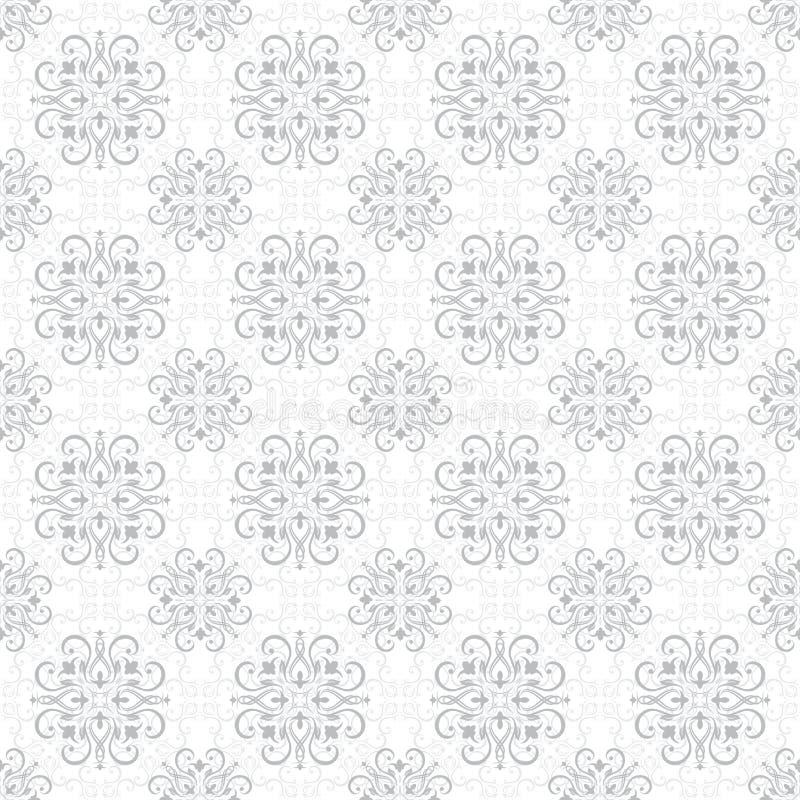 Naadloos Bloemenpatroonbehang in de stijl van Barok Moderne Illustratie vector illustratie